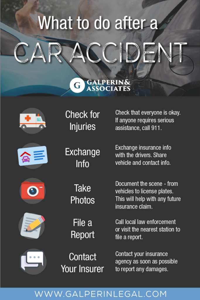 Infographic What To Do If You're In A Car Accident