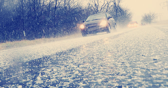 driving in a hailstorm