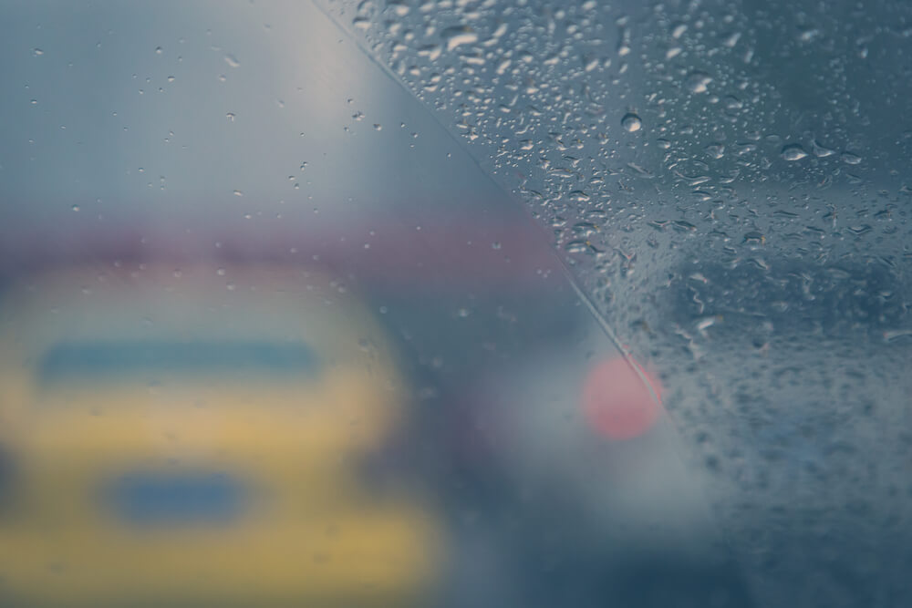 fogged up interior window